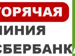 Сбербанк телефон горячей линии 900, 8 800